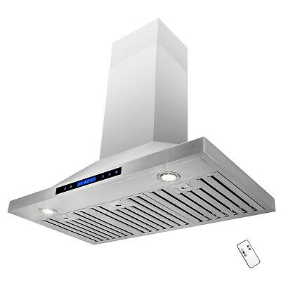 """36"""" Wall Mount Stainless Steel Kitchen Range Hood Vent Fan Touch Control"""