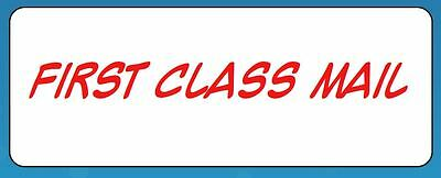 "60 Personalized Seller ""First Class Mail"" Stickers Address Labels"