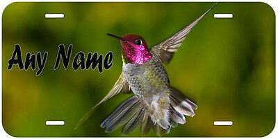 Hummingbird Personalized Aluminum Any Name Novelty Car License Plate