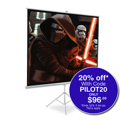 """100"""" Full HD Tripod Projector Screen Portable Conference Presentation Projection"""