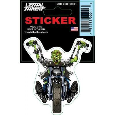 Lethal Threat Sticker Motorcycle, Scooter, Boards Helmets Rc00011 Zombie Chopper