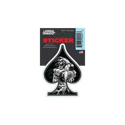 Lethal Threat Sticker Motorcycle, Scooter, Boards Helmets Rc00024  Reaper Girl