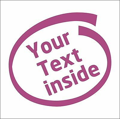 Personalize YOUR TEXT Inside decal sticker vinyl art car home joke custom funny
