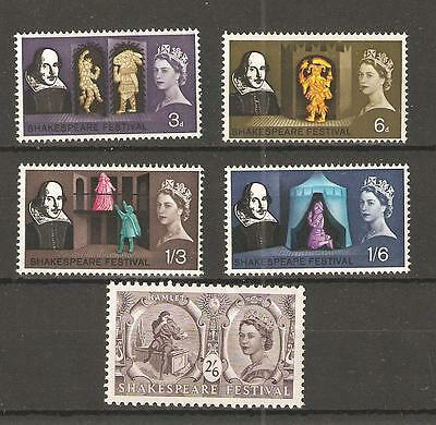 wbc. - GB - COMMEMS - 1964 - SHAKESPEARE FESTIVAL  - UNMOUNTED  MINT