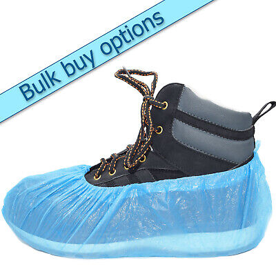 Disposable overshoes, embossed blue shoe covers. Great value. Multi listing
