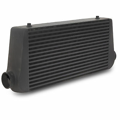 BLACK EDITION 600x300x100 FRONT MOUNT INTERCOOLER FOR VW GOLF POLO LUPO BORA GTI