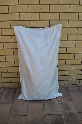 50 Large Poly Woven White Sand Bags 100cm * 60cm