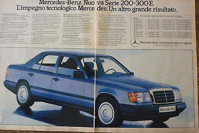 ADVERTISING PUBBLICITA'  MERCEDES-BENZ NUOVA SERIE 200-300 E    -  1985 (cc)