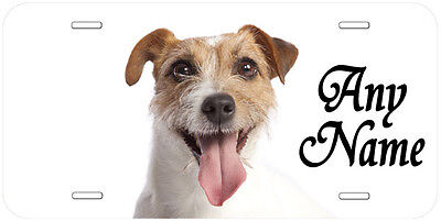 Jack Russell Terrier Personalized Any Name Novelty Car License Plate D02