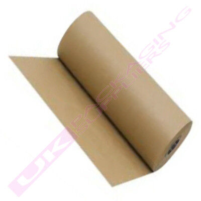 NEW STRONG KRAFT BROWN PACKING PAPER ROLLS 750mm WIDE *SELECT QTY+LENGTH*