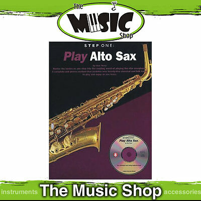 New Step One Play Alto Sax, Saxophone Method Lesson Book & CD Package