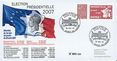 "EP07-1b FDC ""France 2007 Presidential Election - 1st ROUND"" Paris Louvre Museum"