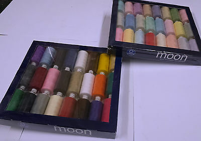 Coats Moon Assorted Thread,48 Popular Colours 1000 Yards Polyester+FREE Needles