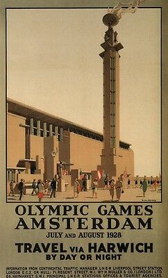 Olympic Games Amsterdam 1928 - vintage repro poster in 3 sizes