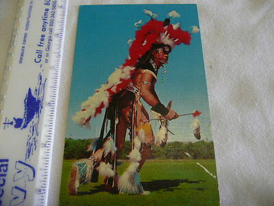 Indian  In Full Dress  Post Card