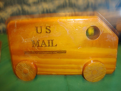 US MAIL TRUCK WOOD VINTAGE WITH NUMBER