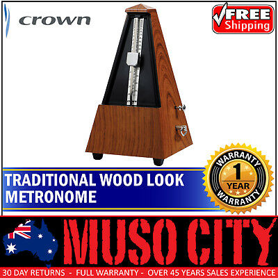 New Crown Traditional Wind-Up Metronome with 'Wood-Look' Finish