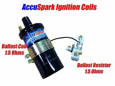 AccuSpark Back V8  Ballast  Ignition coil + 1.5 ohm Ballast Resistor