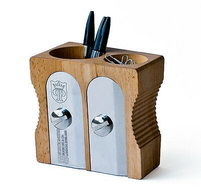 Double Pencil Sharpener Pen Pot Desk Tidy by SUCK UK
