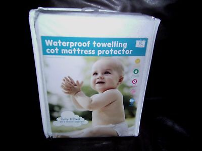 New Baby Cotbed Cot Waterproof Towelling Fitted Sheet Mattress Protector/cover