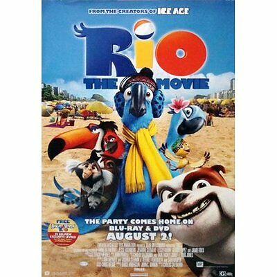 "Rio Movie DVD Single Sided Original Collectiible Poster 27"" x 40"""