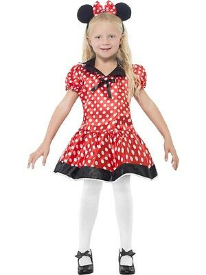 New Mouse Girls Costume Fancy Dress Outfit Age 4 - 12 Years
