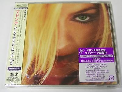 MADONNA GHV2 Japan CD 2001 Greatest Hits Volume 2 sealed new WPCR-12424 best of