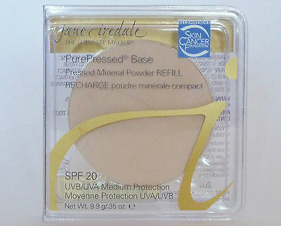 JANE IREDALE Pure Pressed Base Refill Mineral Foundation PurePressed SPF Full Sz