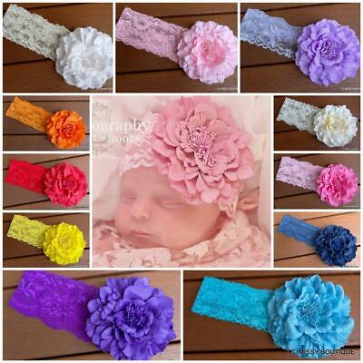Baby Headbands Headband Newborn Toddler Flower Girl Lace Christening Hair Band