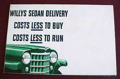 1950 Willys Jeep Sedan Delivery Brochure Excellent Rare Original Great Poster
