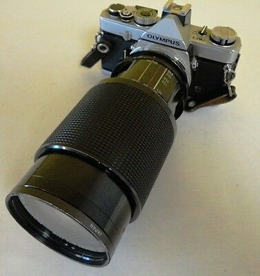 Olympus OM-1 35mm SLR Film Camera with Vivitar Series 1 70-210mm 1:3.5 Lens