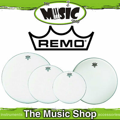 "Remo Drum Head Pack Emperor Coated Fusion Plus 10"", 12"", 16"" +14"" Amb PP-1880-BE"