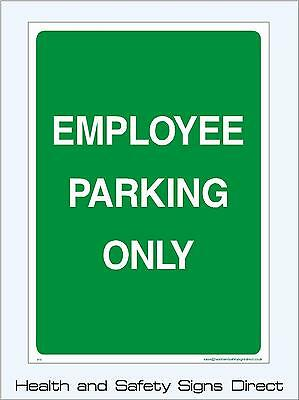 Employee Parking Only Signs & Stickers Large Sizes! Thick Materials! (P11)