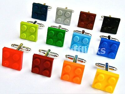 LEGO® Plate Cufflinks SILVER PLATED WEDDING GROOM BIRTHDAY MENS GIFT PRESENT