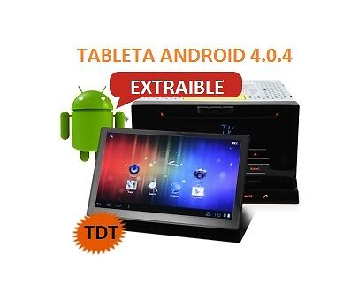 Radio Dvd Universal 2 Din + Pad Tablet Extraible Android 4.0.4 , 3G, Gps..