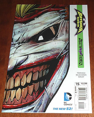 Batman And Robin #15 Death Of The Family Nm/m (2012) Joker Cut Cover.