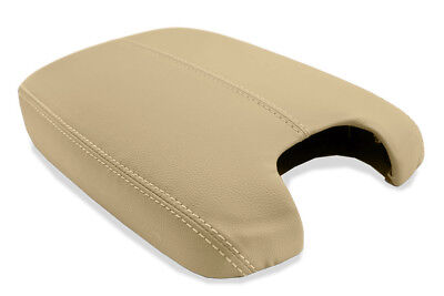 Armrest Center Console Lid Cover Real Leather For 08-12 Honda Accord Beige