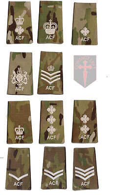New All Ranks Multicam MTP ACF RANK SLIDE ( Cadets Army Cadet Force