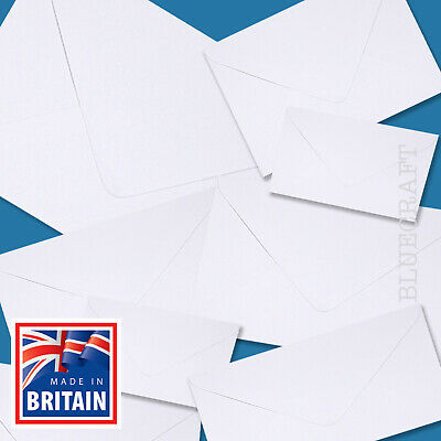 Diamond White Envelopes - C7 C6 C5 C4 DL 130 & 155 Square 5 x 7 inches