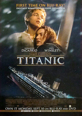 "Titanic Movie DVD Single Sided Original Collectiible Poster 27"" x 40"""