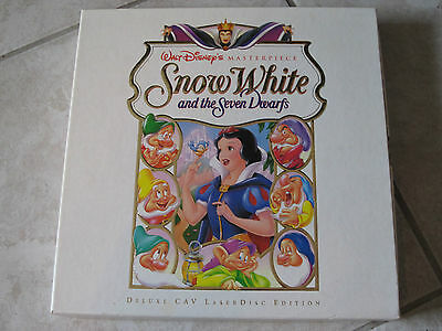"""Disney """"Snow White"""" Limited Edition Deluxe Collection Laserdisc Box Set~ Mint"""