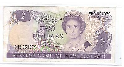 (Nd) 1985-89 Reserve Bank Of New Zealand Two Dollars Banknote