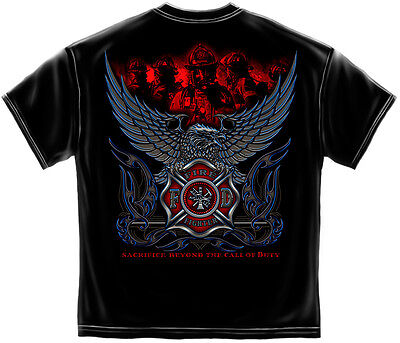 Elite Breed Firefighter Sacrifice Beyond The Call of Duty New Cotton T-Shirt