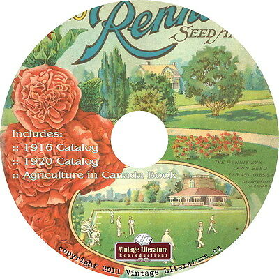 Rennies Vintage Seed Catalog Collection {Canadian History} on DVD