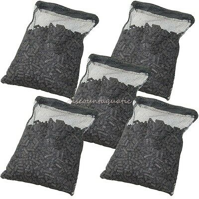 5 lbs Activated Carbon in 5 Media Bags for aquarium fish pond canister filter