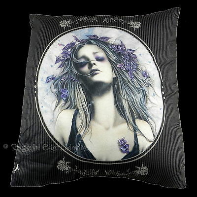 **WINTER IS OVER** Goth Vampire Fantasy Art Cushion By Victoria Frances (40cm)