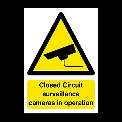 Cctv Cameras In Operation Signs & Stickers Large Sizes! Thick Materials! (S27)