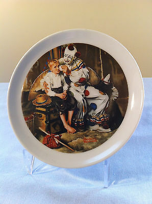 "Norman Rockwell 6 1/2"" Plate (clown wiping tears) wall mountable"