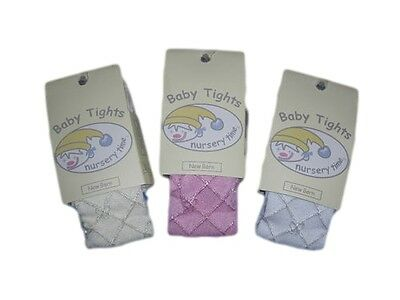 Nursery Time Baby Tights in Pink , Cream and White