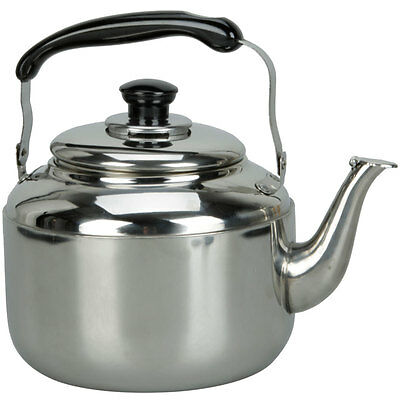 New 3L Stainless Steel Tea Hot Water Kettle Pot With Sound Silver